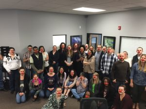 The whole GAT Law Firm showing off their red noses for a supporting cause